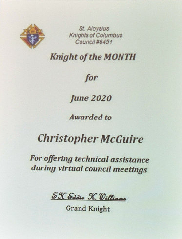 June Knight of the Month